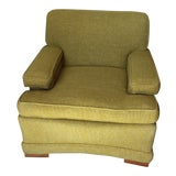 Image of Mid-Century Green Club Chair For Sale