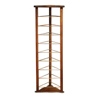 19th Century French Louis Philippe Walnut Plate Rack For Sale
