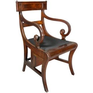 Regency Mahogany Metamorphic Armchair For Sale