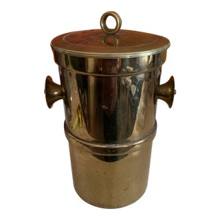 Brass Ice Bucket or Champagne Cooler by Georges Briard For Sale