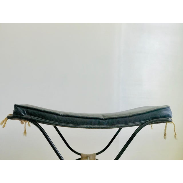 Jean Royere Style Iron and Rope Stool 1950's For Sale - Image 9 of 13