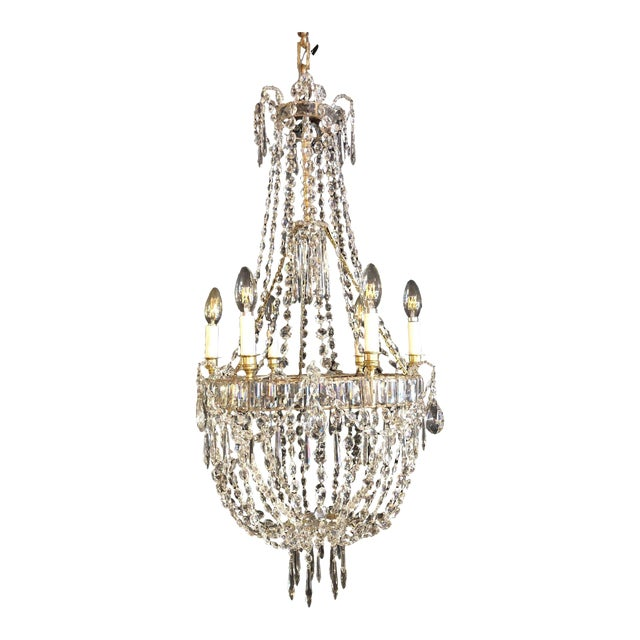 Louis XV Style Traveling Crystal Chandelier For Sale