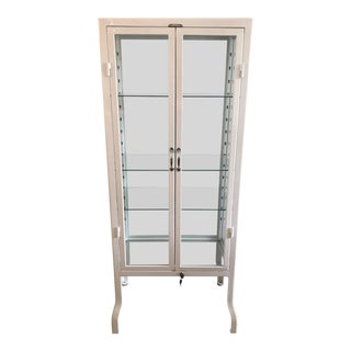 Restoration Hardware Large White Pharmacy Cabinet For Sale