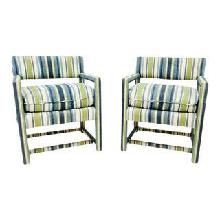Milo Baughman Parsons Style Chairs - A Pair