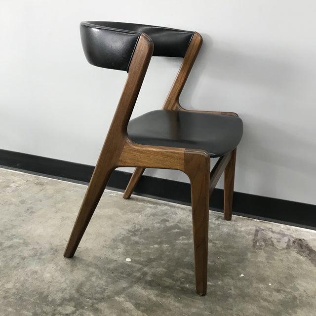 Textile Set of 6 Kai Kristiansen Dining Chairs For Sale - Image 7 of 13