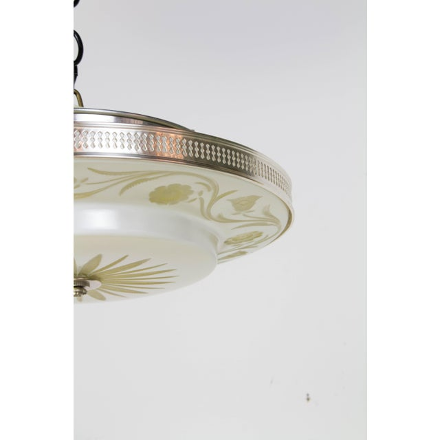Hollywood Regency Flush Mount Fixtures - A Pair For Sale - Image 4 of 9
