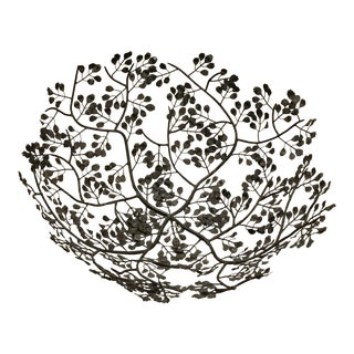 Wrought Iron Leaves Scroll Bowl