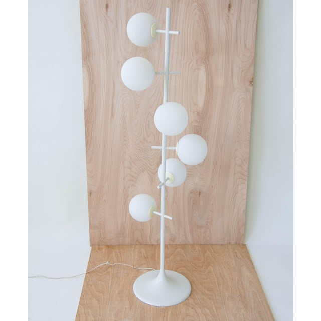 Rare Temde Leuchten Frosted Globes Floor Lamp For Sale - Image 4 of 11