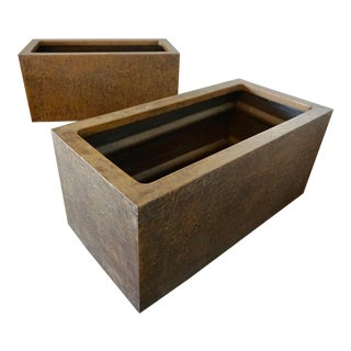 Forms and Surfaces Fiberglass Planters- a Pair For Sale