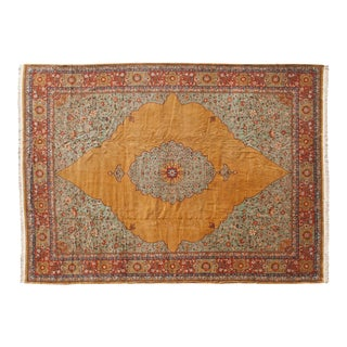 Vintage Tabriz Design Carpet - 16' X 22' For Sale