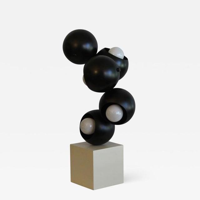Black Robert Sonneman sculptural Table Lamp. For Sale - Image 8 of 8