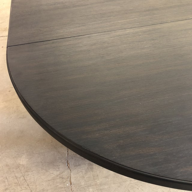 Hooker Corsica Dining Black Wooden Dining Table For Sale In New York - Image 6 of 10