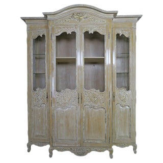 Antique Painted French Louis XV Style Cabinet, Circa 1940s $9,500 For Sale