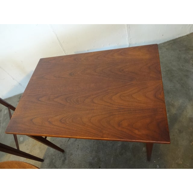 Danish Modern Wooden Side Tables - A Pair - Image 4 of 6