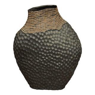 Halvorsen Modern Contemporary Glazed Stoneware Pottery Vase For Sale