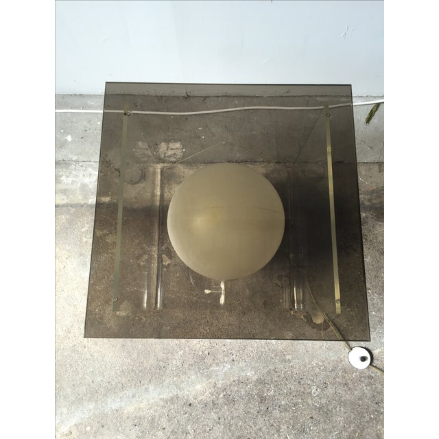 Vintage Lucite and Smoky Glass Lighted Table For Sale In New York - Image 6 of 6
