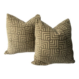 22 Inch Down Filled Luxury Pillows -A Pair For Sale