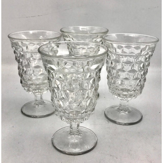 The cubist stylings of the American Crystal Clear pattern by Fosteria is an American Classic. First introduced in 1915...