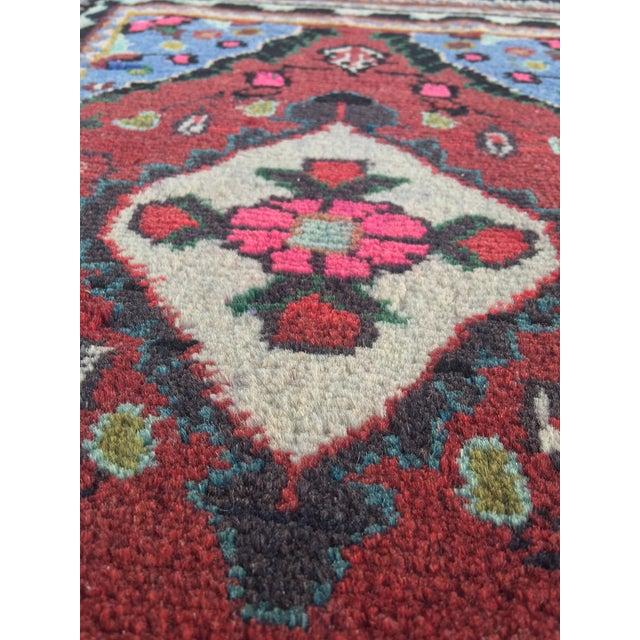 "Small Persian Hamadan Welcome Mat Rug - 1'5 1/2"" X 2' - Image 7 of 7"