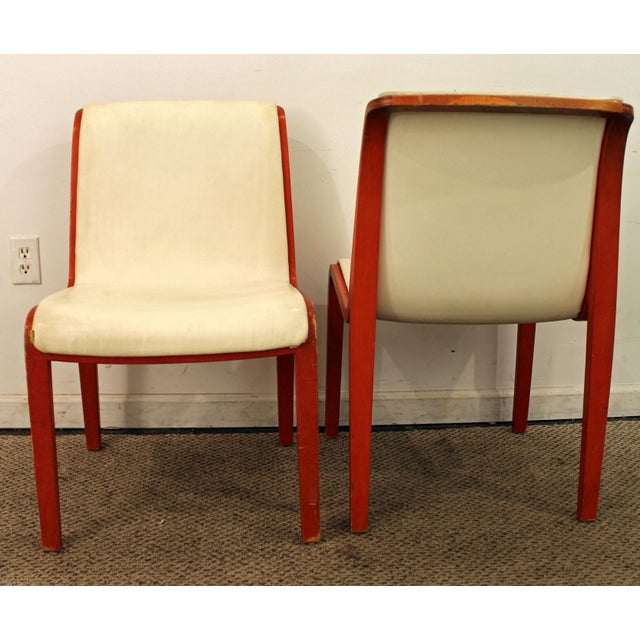 Pair of Mid-Century Danish Modern Knoll Bill Stevens Side/Dining Chairs What a find. Offered is a very cool Pair of Mid-...