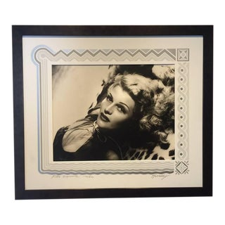 Black and White Rita Hayward Photograph by George Hurrell For Sale