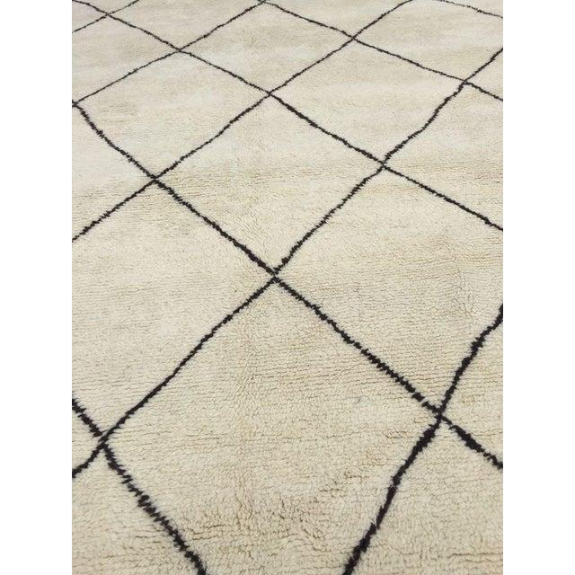 "Harlequin Moroccan Handmade Wool Rug - 10'9"" x 7'2"" - Image 4 of 4"