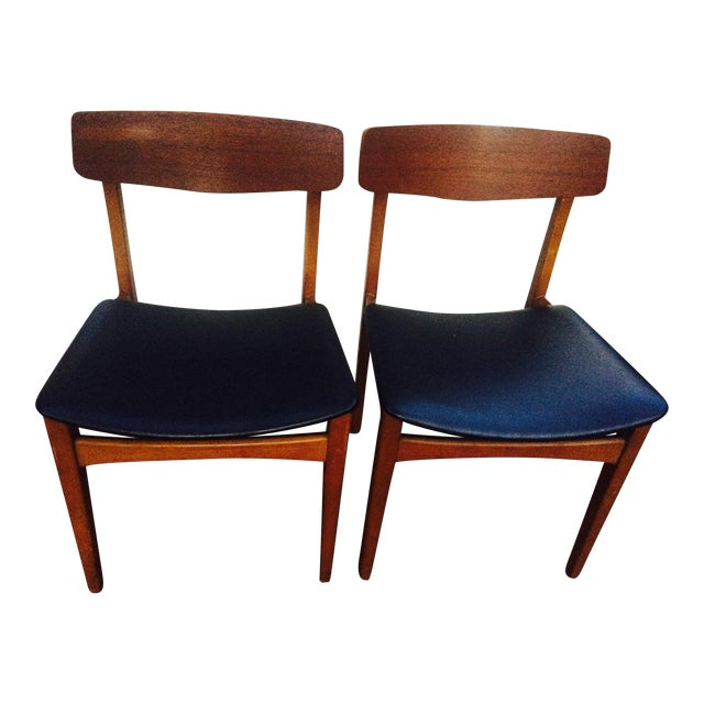 Mid-Century Modern Dining Chairs- A Pair - Image 1 of 6