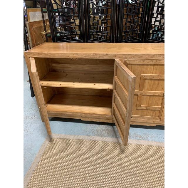 Wood Key Design 4 Door Natural Cabinet For Sale - Image 7 of 9
