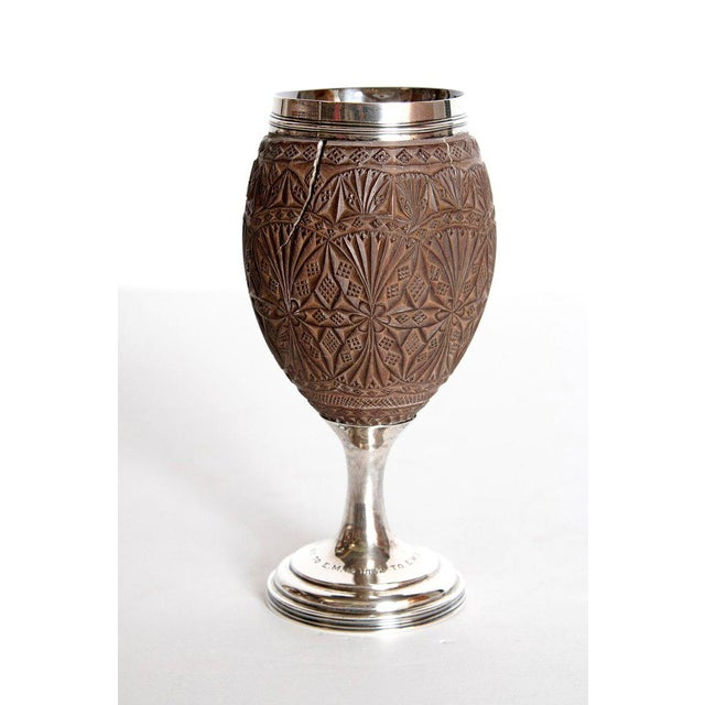 Georgian Late 18th Century Geroge III Coconut & Silver Goblet by Charles Hougham For Sale - Image 3 of 13