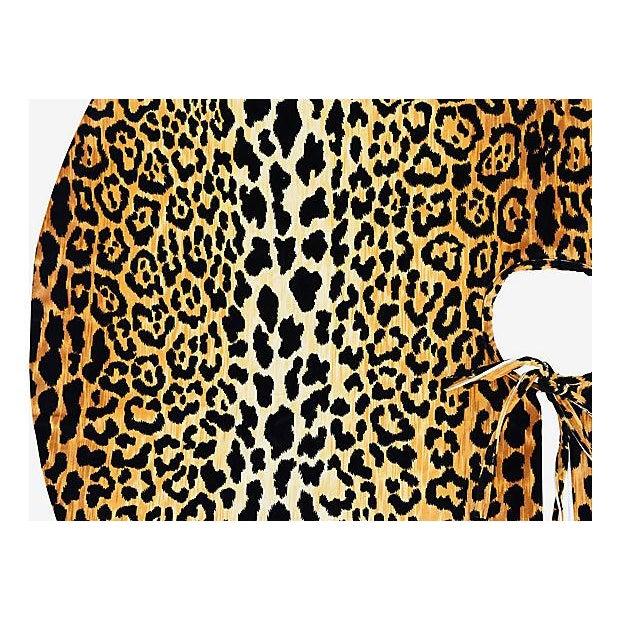 """Only One Left!!! Custom Tailored X-Large 55"""" Leopard Spot Velvety Christmas Tree Skirt - Image 5 of 9"""