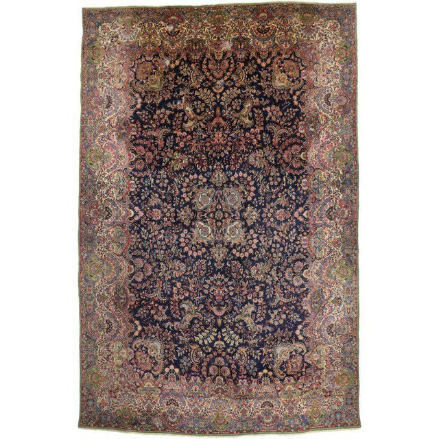 """Antique Persian Kirman Palace Size Rug - 11' X 17'4"""" For Sale - Image 10 of 10"""