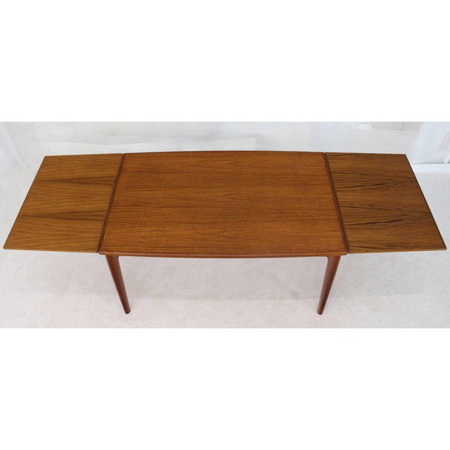 Brown Danish Modern Rectangular Boat Shape Refectory Dining Table For Sale - Image 8 of 8