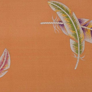 Fromental Plumes Silk Embroidered Wallpaper Mural For Sale