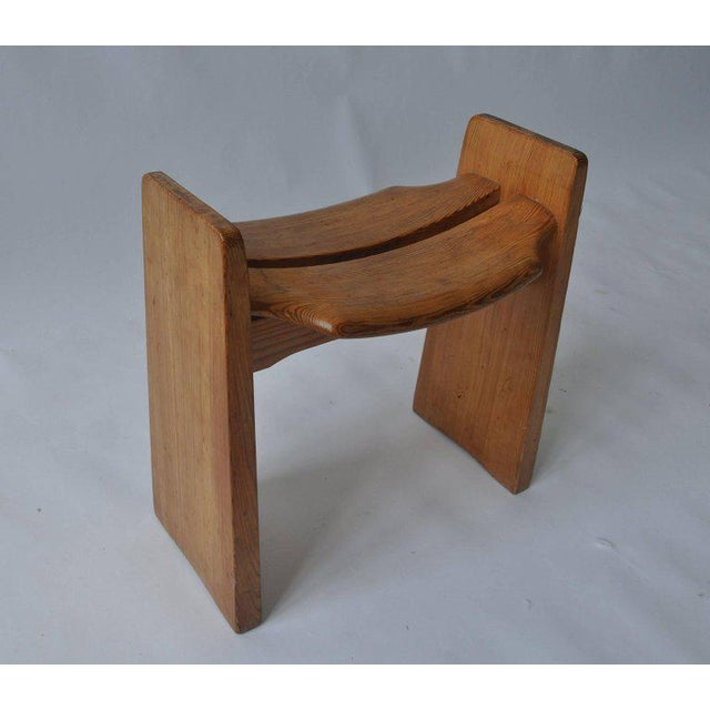 Solid Pine Stool by Gilbert Marklund For Sale - Image 4 of 7