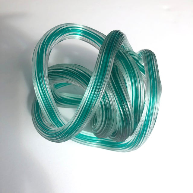 Art Deco Italian Glass Knot Sculpture For Sale - Image 3 of 5