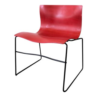 Massimo Vignelli for Knoll Red Handkerchief Chair