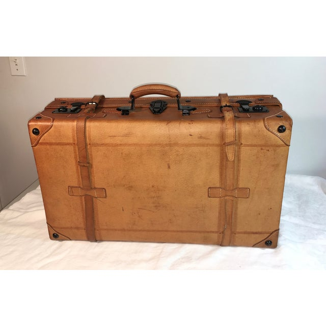 Vintage Leather Suitcase - Image 6 of 8