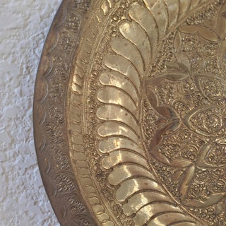 Vintage Brass Medallion Tray & Wall Decor Preview