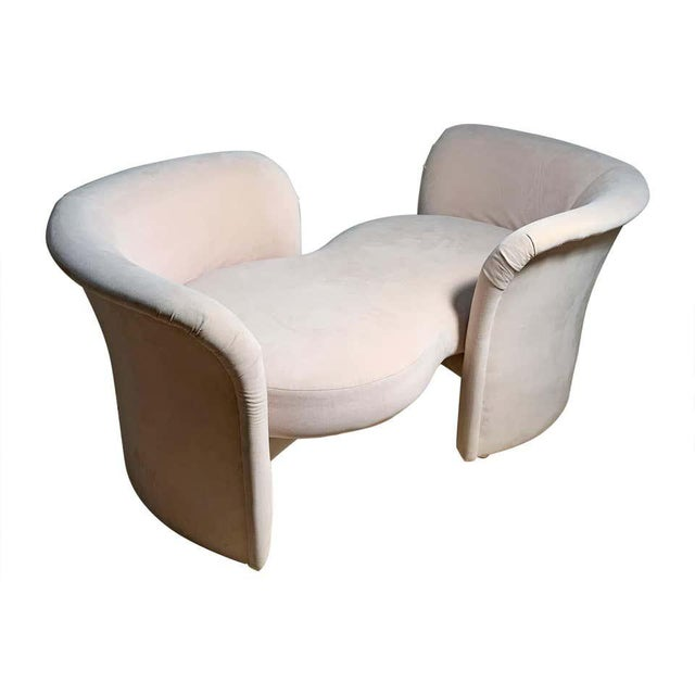Tete-a-Tete Love Seat Sofa by Milo Baughman / manner of Vladimir Kagan For Sale - Image 13 of 13