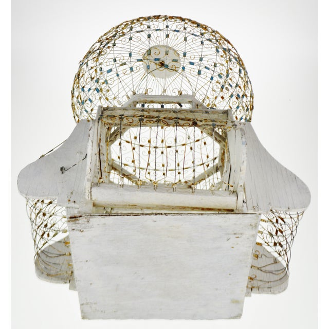Antique French Victorian Dome Top Wire Bird Cage For Sale - Image 12 of 13