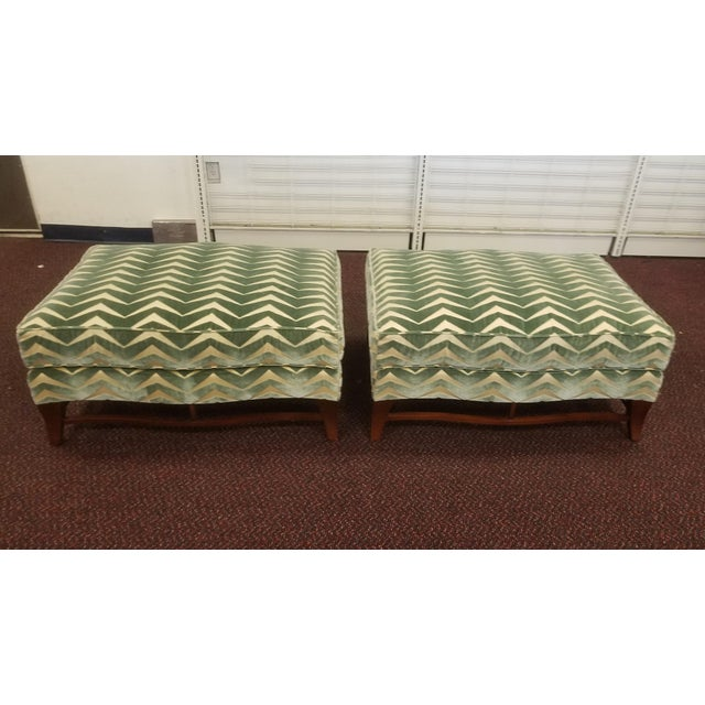 Classic Donghia Victoire Ottomans - a Pair For Sale - Image 13 of 13