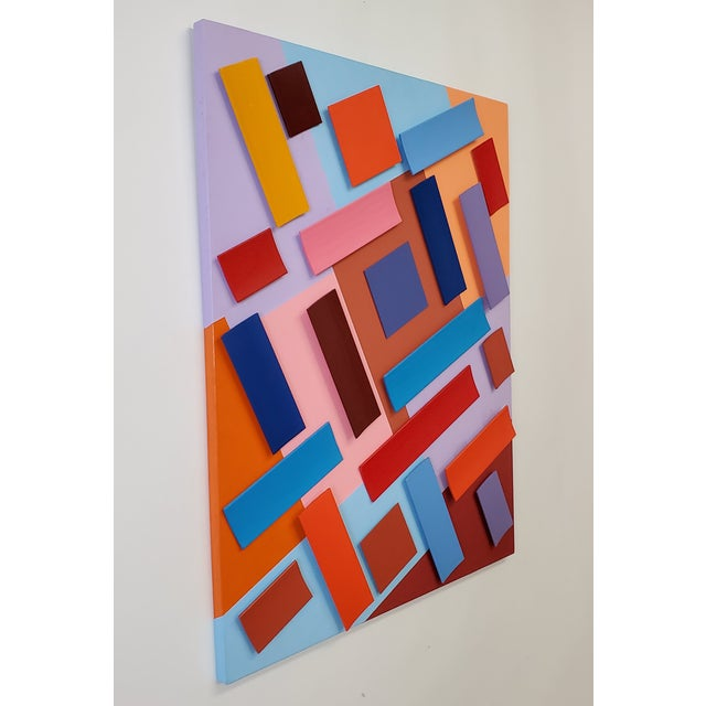 Abstract Abstract Sassoon Kosian in Search of Happiness Wall Sculpture For Sale - Image 3 of 5