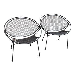 Vintage Mid Century Salterini Radar Chairs- A Pair For Sale