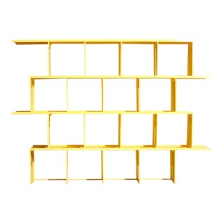 Michael Felix Yellow Powder-Coated Metal Shelves For Sale