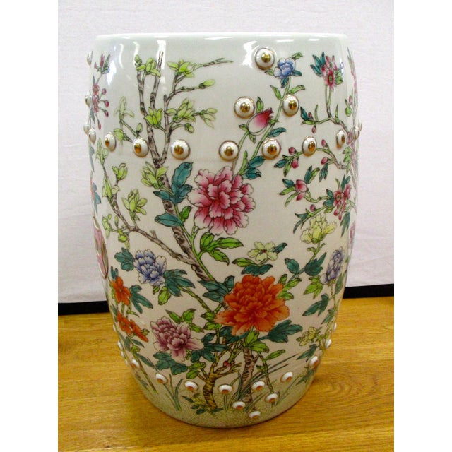 Chinese Porcelain Floral Garden Stool For Sale In New York - Image 6 of 6