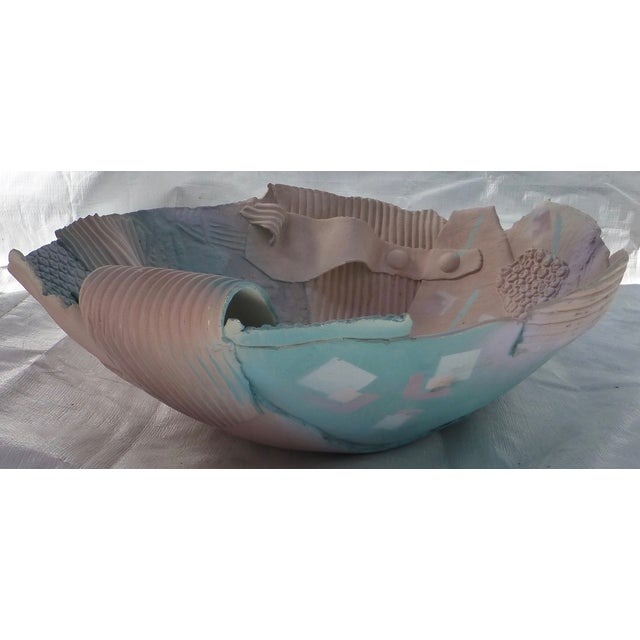 1980s Memphis-Style Pottery Bowl - Image 2 of 11
