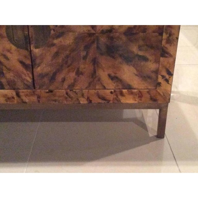 Mid-Century Modern Brass Tortoise Shell Sideboard For Sale - Image 9 of 12