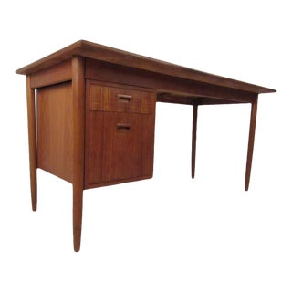 Midcentury Danish Teak Desk For Sale