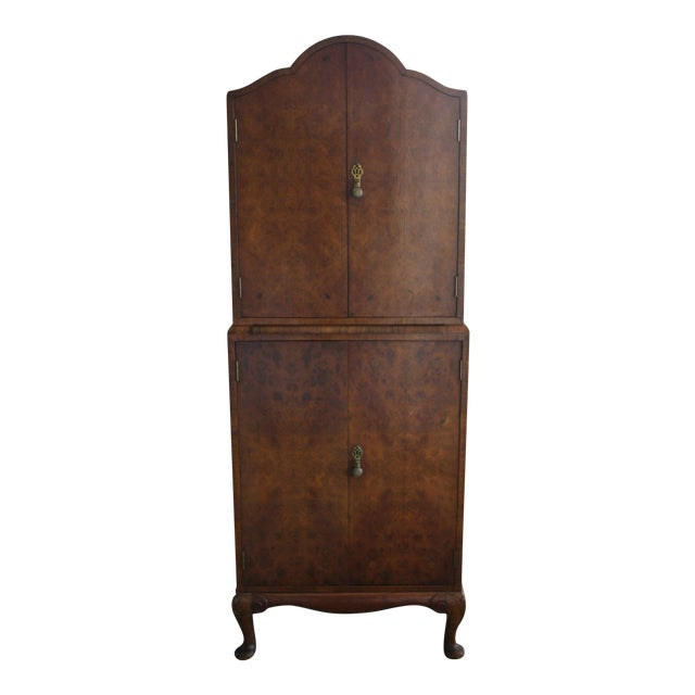 Art Deco Burl Wood Bar Cabinet - Image 1 of 8
