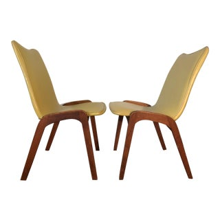 Johannes Andersen Style Mid-Century Danish Teak Chairs - a Pair For Sale